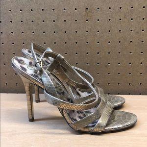 Sam Edelman Abbott Leather High Heel Sandals sz 9